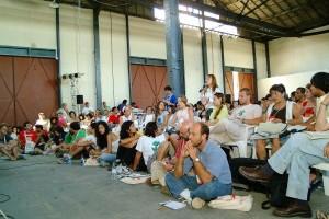 Espaço da Tenda Feminista durante o evento   Foto: Repositório FSM