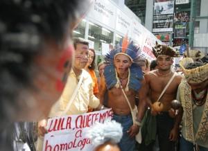 Representantes indígenas brasileiros também participaram do evento   Foto: Repositório FSM